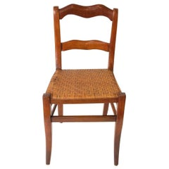 Chair 19th Century French Fruitwood Weave Seat