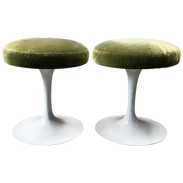 Set of Two Eero Saarinen Tulip Stools 1