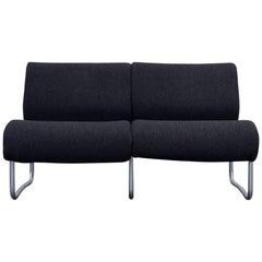 Fröscher Sitform Jürgen Lange Designer Sofa Fabric Grey Two-Seat Modern