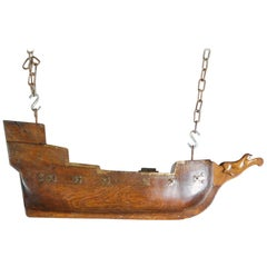 Early 19th Century Naive French Votive Ship