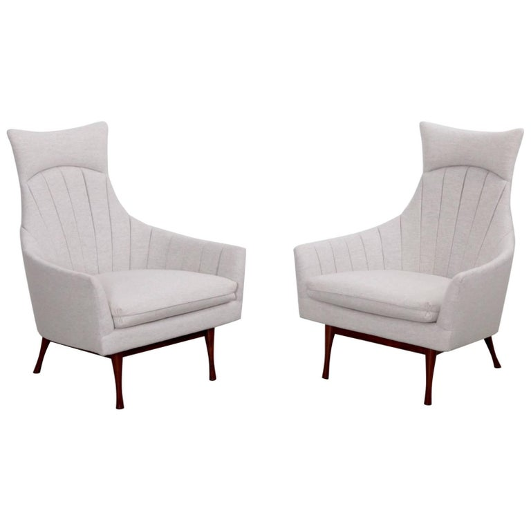 Pair of Paul McCobb Symmetric Group Lounge Chairs by Widdicomb