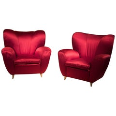 Pair of Armchairs Attributed to Guglielmo Ulrich