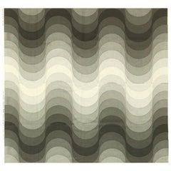 "Vintage ""Welle"" 'Wave' Verner Panton Textile"