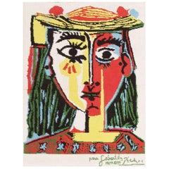 Vintage Pablo Picasso 'After' Rug. Size: 3 ft x 4 ft (0.91 m x 1.22 m)