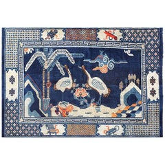 Blue Antique Chinese Carpet