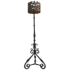 Italian Baroque Wrought Iron Torchere