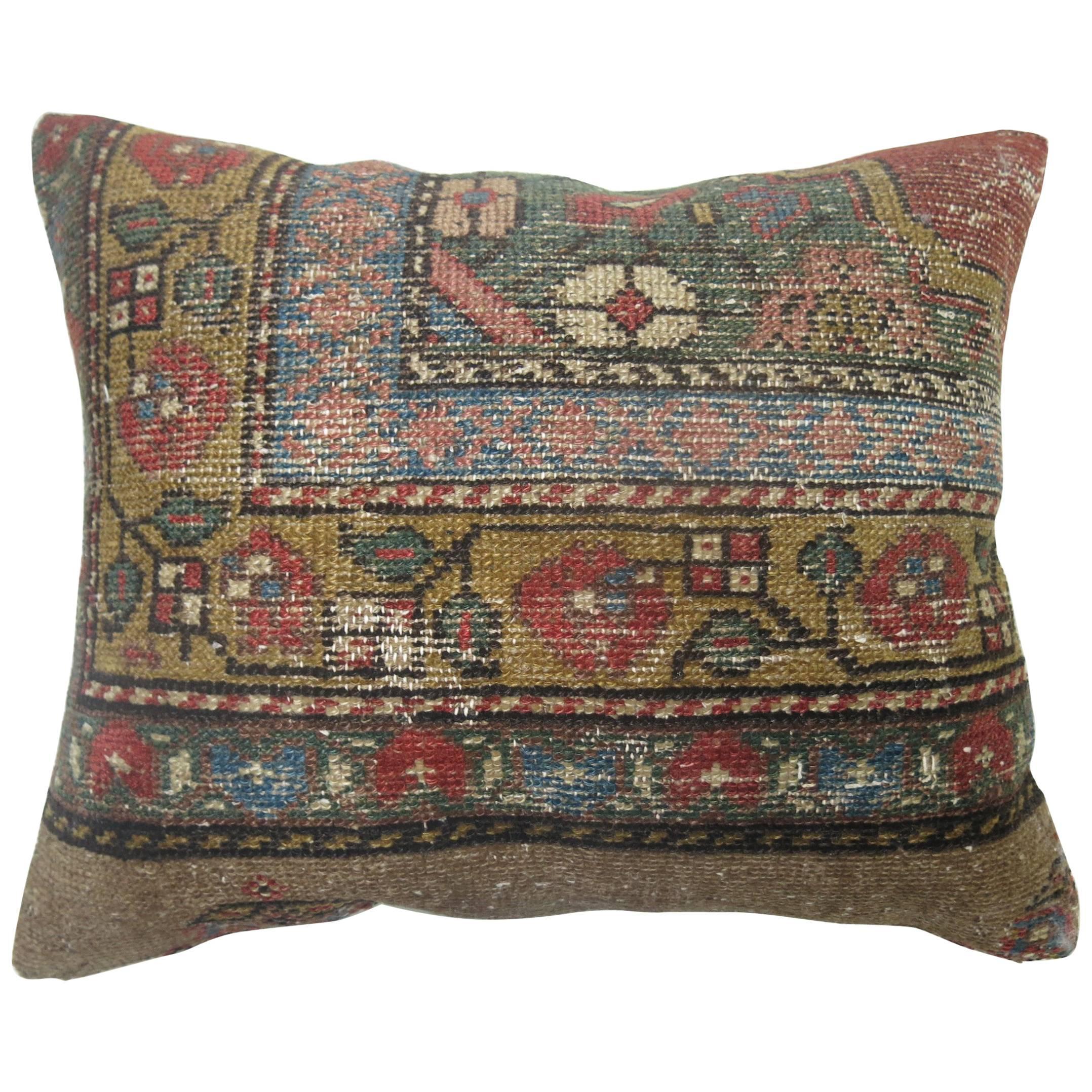 Persian Serab Border Rug Pillow