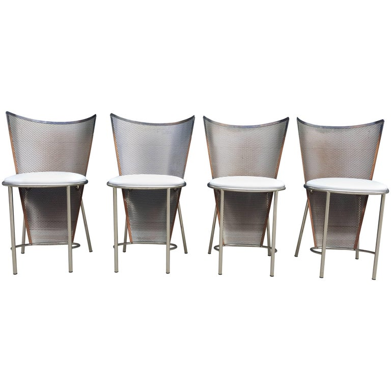 Set of Four Chairs, Belgo Chrome, World Expo, Mid-Century Modern