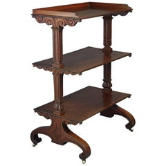 Early 19th Century William IV Mahogany Etagere or Dumb Waiter