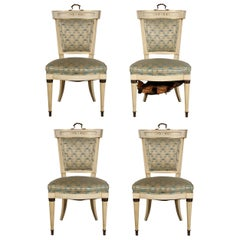 Set of Four Hollywood Regency Side Chairs