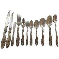 Decor by Gorham Sterling Silver Flatware Set Service Dinner Size 141 Pieces Huge