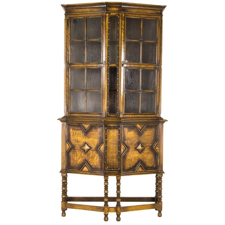 Antique Display Cabinet Arts & Crafts Scottish School, ... - Antique Display Cabinet Arts And Crafts Scottish School, 1910 For
