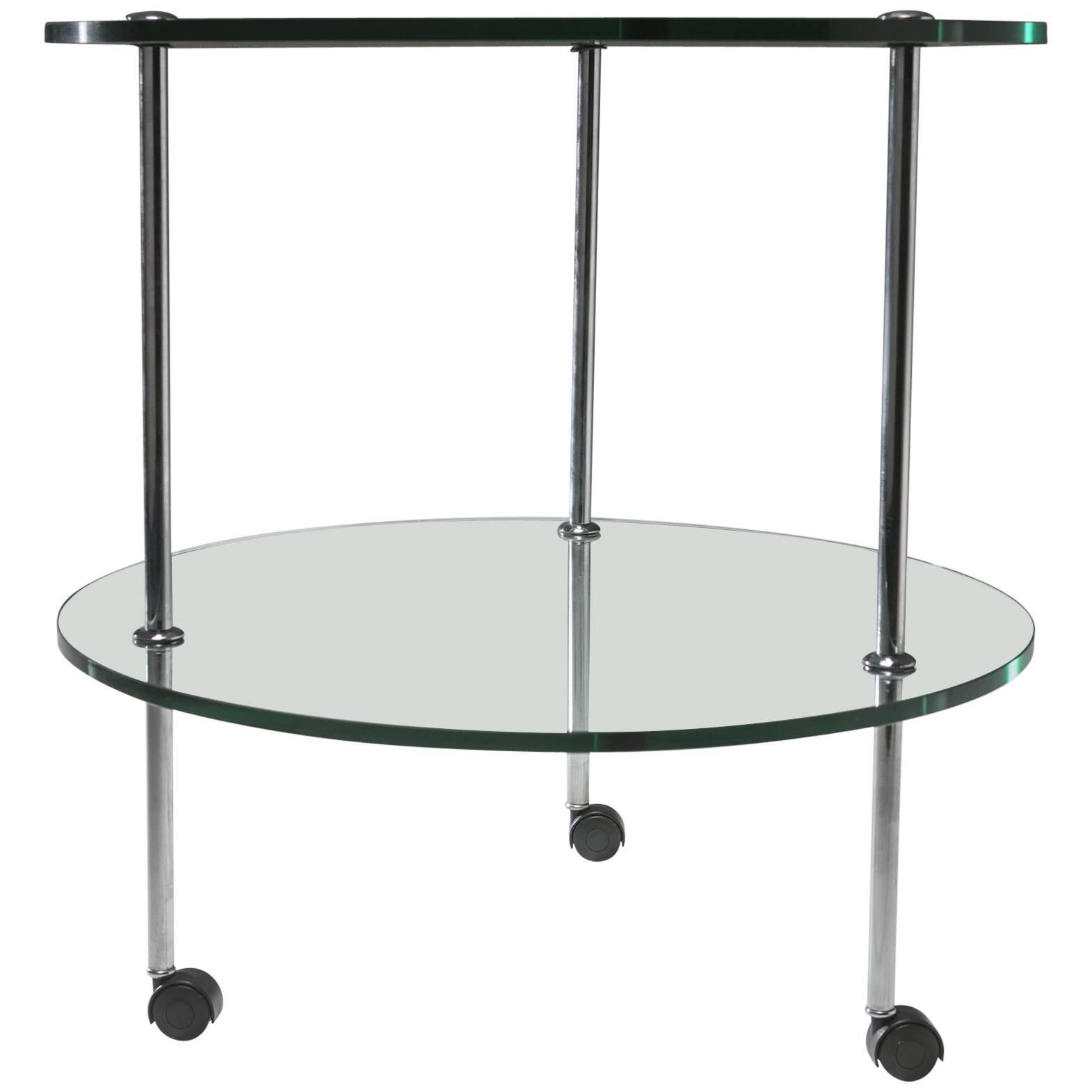 """T6"" Glass Cart by Luigi Caccia Dominioni for Azucena"