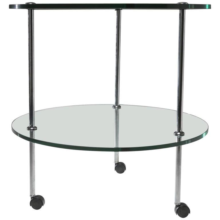 """""""T6"""" Glass Cart by Luigi Caccia Dominioni for Azucena"""