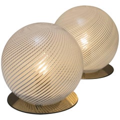 "Pair of ""Tessuto"" Table Lamps by Tronconi"