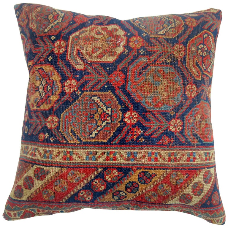 Antique Persian Tribal Rug Pillow