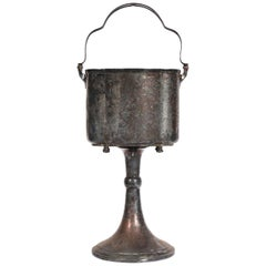 Silver Plate Ice Bucket on Stand