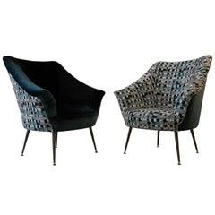Donato & Donata 1950s and 1960s Italian Design Style Armchairs