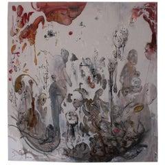 Ignazio Schifano Contemporary Sicilian Artist Oil Painting on Canvas