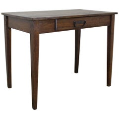 Antique One Plank Oak Side Table