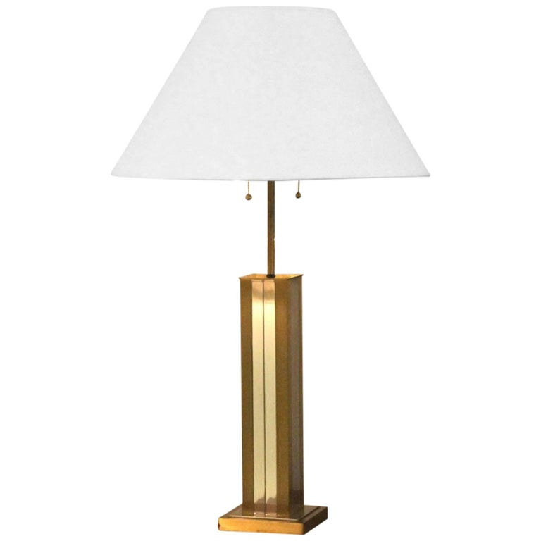Mid-Century Polished Brass Lamp, Willy Rizzo