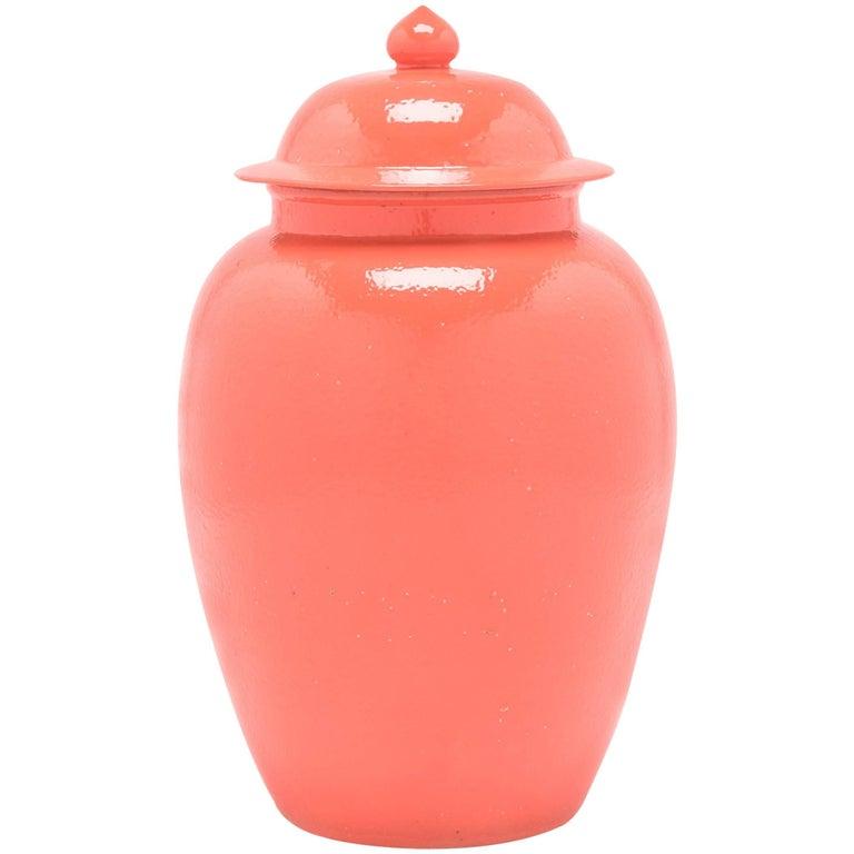Chinese Persimmon Baluster Jar