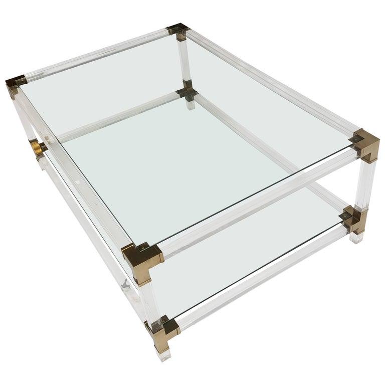 Mid-Century Italian Coffee Table from Plexiglass