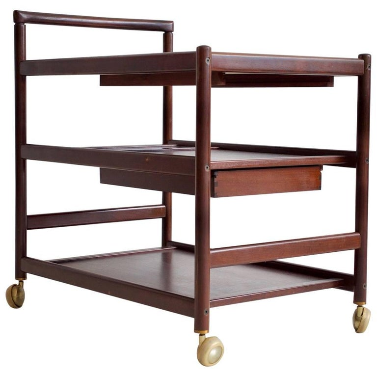 Mahogany Serving Trolley Attributed to Johannes Andersen