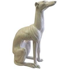 Italian Mid-Century Modern Terra Cotta Greyhound/Dog