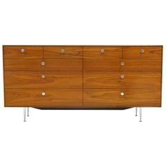 Thin Edge Ten-Drawer Walnut Dresser by George Nelson, Excellent Condition