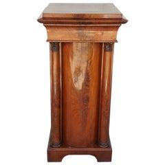 19th Century Danish Mahogany Pedestal Cabinet.