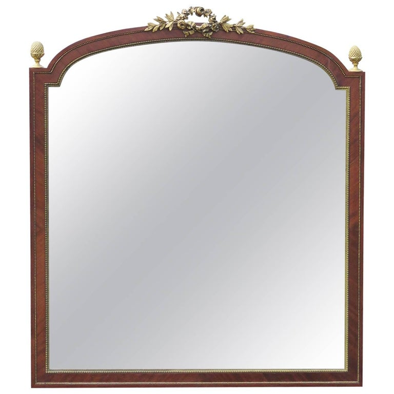 Linke Bronze Mounted Beveled Glass Mirror For