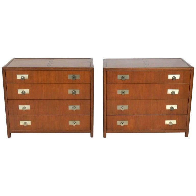 Pair of Asian Influenced Chests by Michael Taylor for Baker