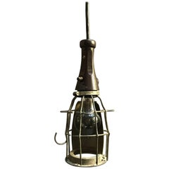 Industrial Rubber Handle Utility Cage Light Pendant