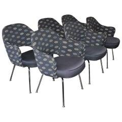 Set of Six Mid-Century Modern Eero Saarinen Executive Armchairs for Knoll