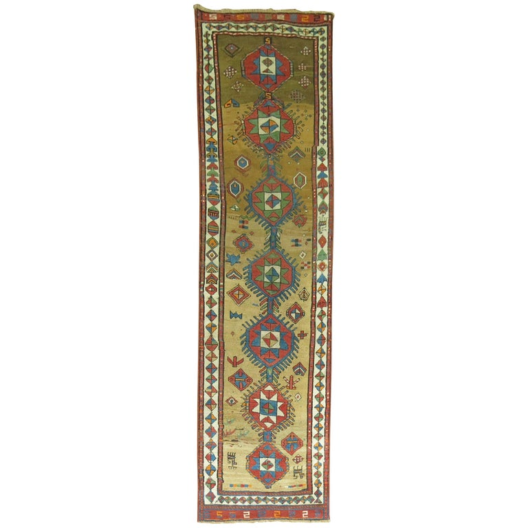 Decorative Persian Bakshaish Serab Narrow Runner For Sale