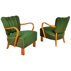 Pair of Lounge Armchairs by Jindřich Halabala for UP Závody Brno, 1930s