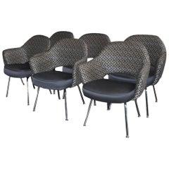 Set of Six Mid-Century Modern Saarinen Executive Armchairs
