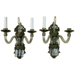 Pair of French Double Arm Sconce