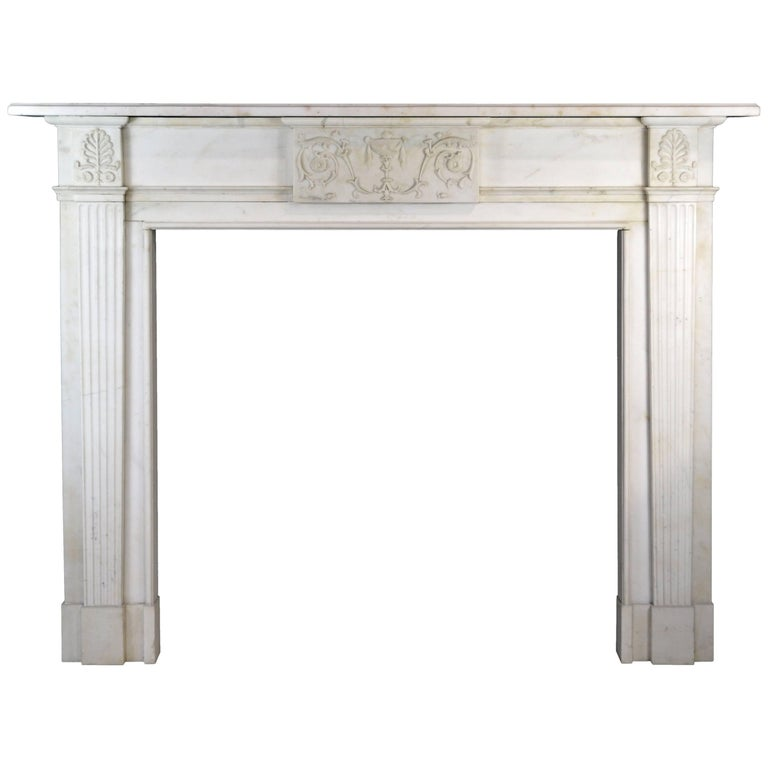 19th Century Neoclassical Statuary Marble Mantelpiece, 'GEO-ZE97'