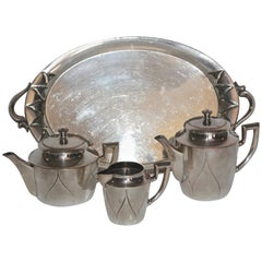 19th Century Silver Plate Tea Set