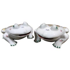 Happy Frog Ceramic Figures