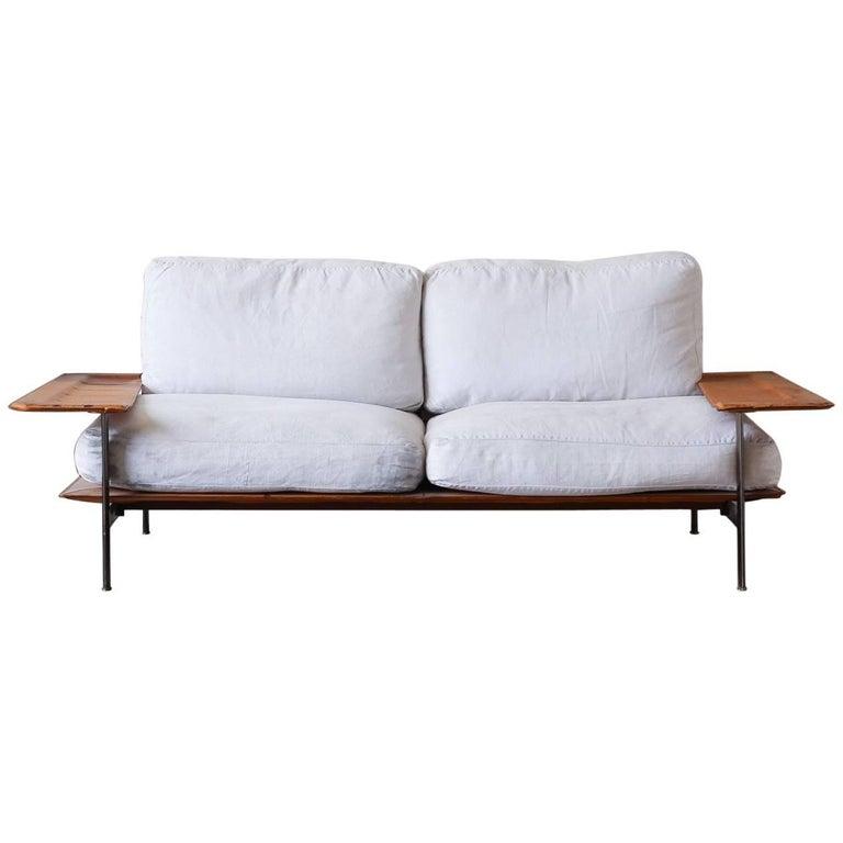B And B Italia Mid Century Modern Leather Sofa For Sale At 1stdibs