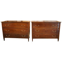 Exceptional Pair of Directoire Period Commodes