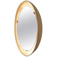 Rare Luminated Round Mirror by Arne Jacobsen for Louis Poulsen, Denmark, 1960s