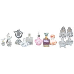 Collection of Glass Perfume Bottles