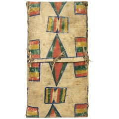 Antique Parfleche Envelope with Abstract Painting, 19th Century, Plateau