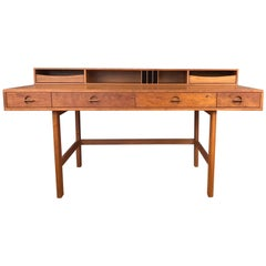 Jens Quistgaard for Løvig Teak Flip-Top Executive Desk