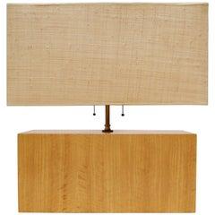 Rectangular Zebra Wood Table Lamp