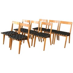 Early Set of Eight Jens Risom for Knoll 666 Side Chairs